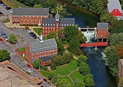 Aerial View - Old Mills in Laconia New Hampshire